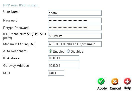 настройки 3G для роутера D-Link